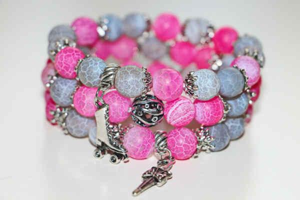 агат камень-розовый