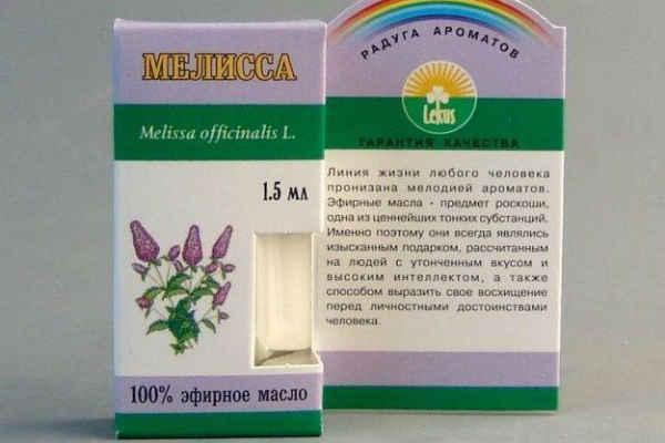 эфирное масло мелиссы-свойства