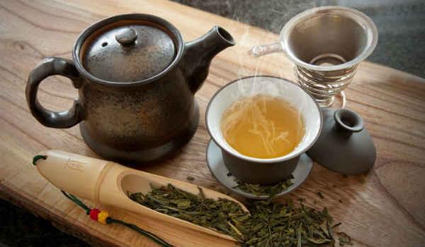 как убрать второй подбородок-зеленый чай