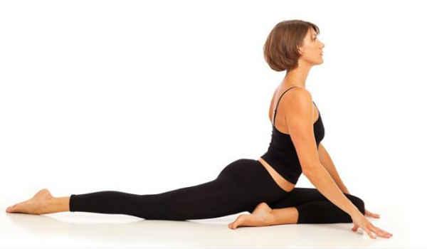 упражнения от боли в спине-поза голубя